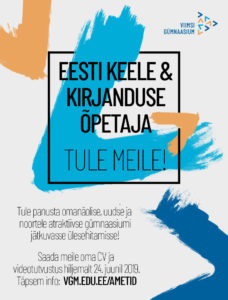 Ootame meeskonda eesti keele ja kirjanduse õpetajat