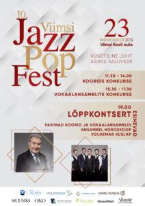 10. Viimsi JazzPopFestivalil osalevad ka meie koor ja ansambel, tule kuulama!