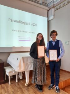 Liisa Veski ja Oscar Moretti pälvisid päranditegijate konkursil tunnustuse