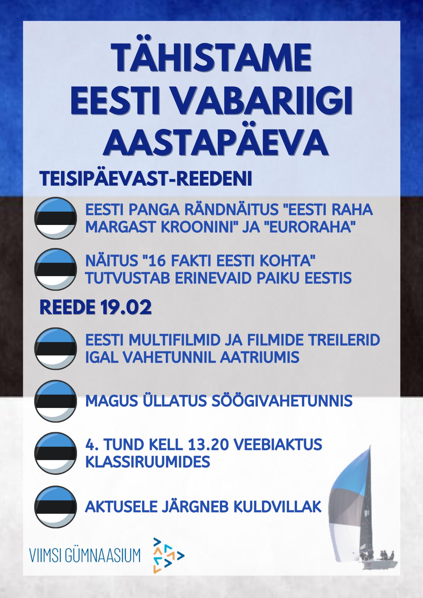 Palju õnne, armas Eesti!