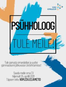 Read more about the article Tule meile, psühholoog!
