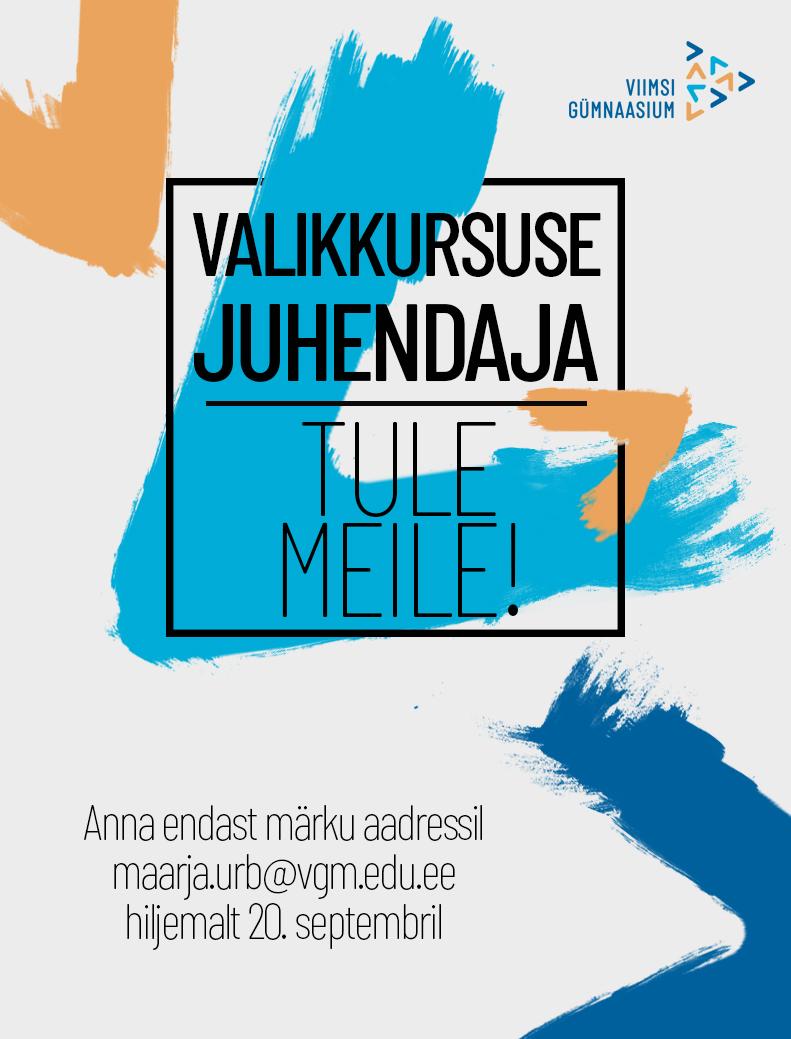 Read more about the article Valikkursuse juhendaja, tule meile!